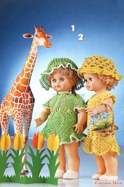 Схемы одежды для кукол крючком - Гардероб для куклы - Страна Мам