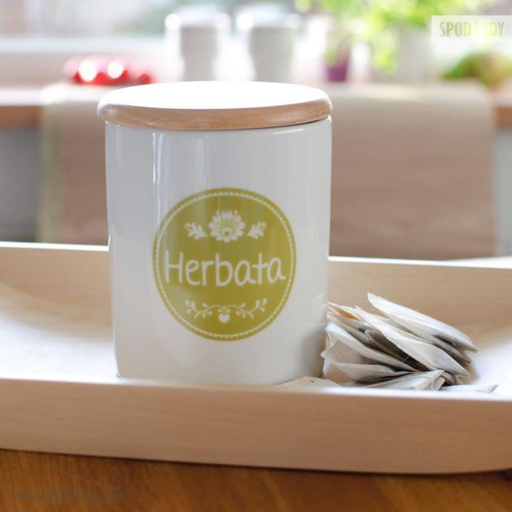 Herbatka na piątą popołudniu.   http://www.spodlady.com/prod_18663_Pojemnik_ceramiczny_Herbata.html