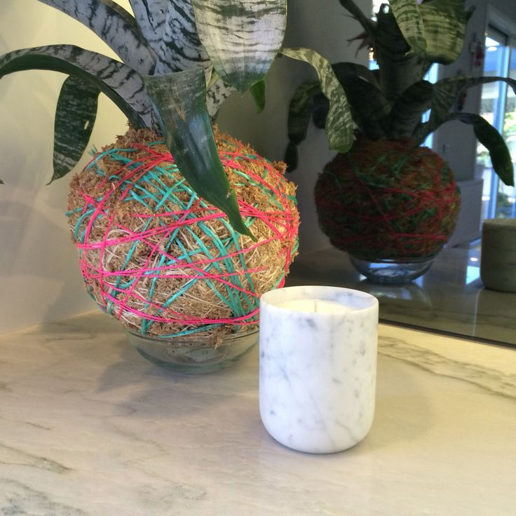 Miss white melbourne stunning marble candle
