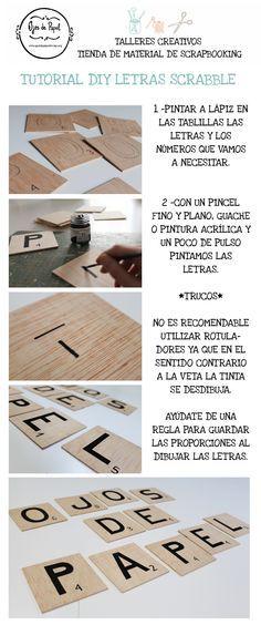 Tutorial DIY letras scrabble