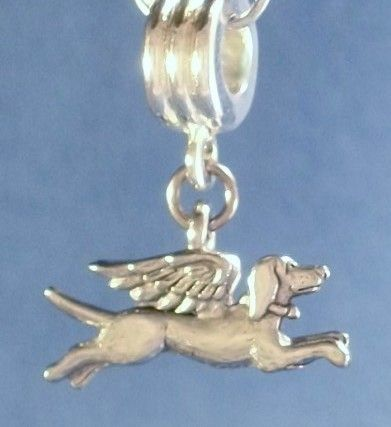 pandora dog angel charm