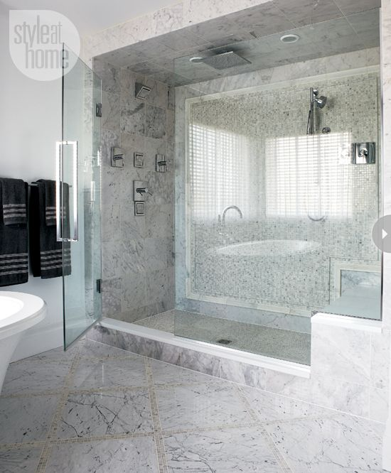 Bathroom Marble Tile Designs For Walk In Shower