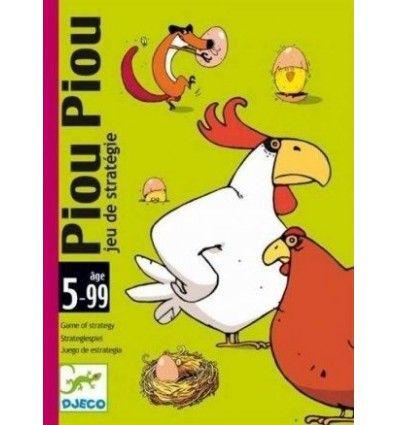 Gra karciana dla dzieci .Zawartość: 31 kart (4 lisy, 10 kogutów, 10 kur, 10 gniazd) oraz 18 jajek/kurczaczków