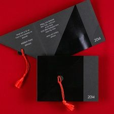 Cap and Tassel Graduation Announcement Invitation Wording Ideas and Samples Item Number:GYF83382
