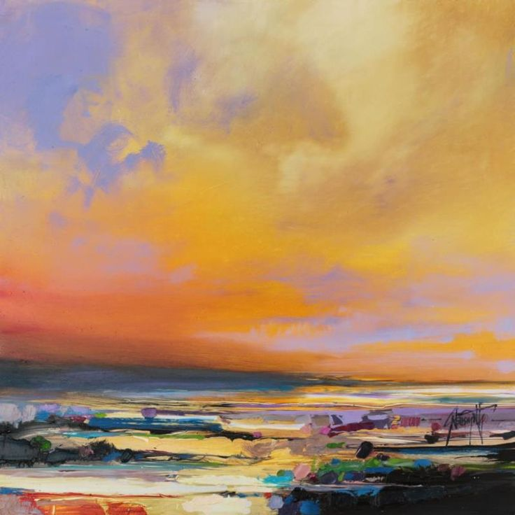 Diminuendo Sky Study 1 oil painting by scottish landscape artist Scott Naismith