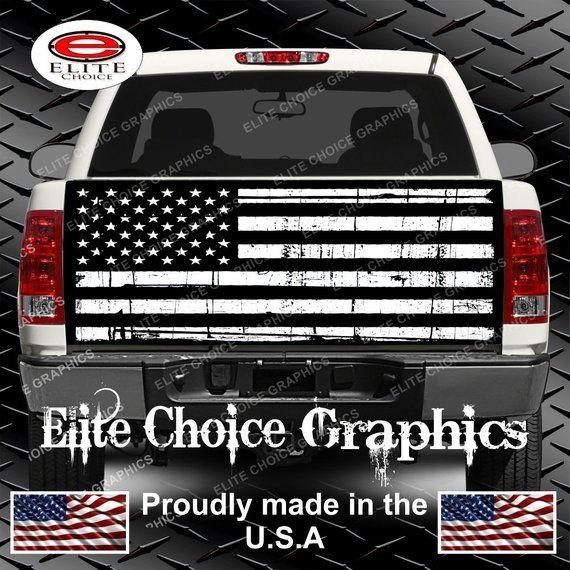 4x4 Truck Decal OD GREEN AMERICAN FLAG Chevrolet Silverado Colorado Sierra