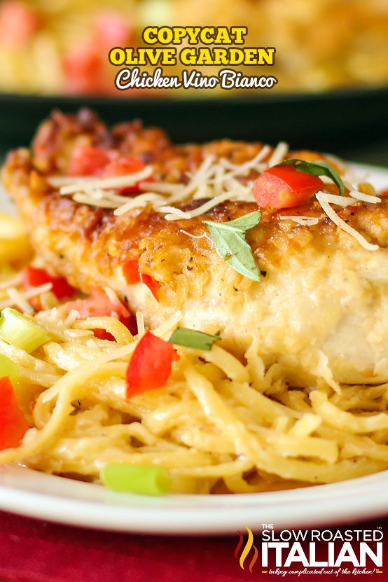 Chicken Parmesano Vino Bianco