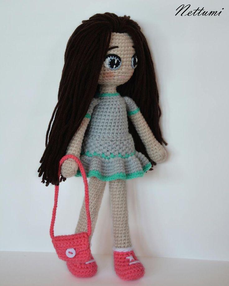 """8 kedvelés, 1 hozzászólás – Anett (@nettumi) Instagram-hozzászólása: """"This is my new doll, her name is Netti <3 #amigurumi #doll #amigurumidoll #crochet #crochetdoll…"""""""