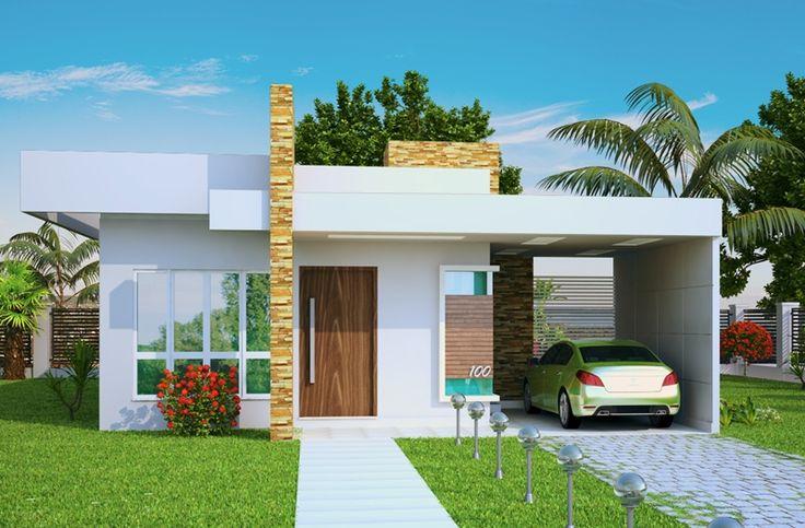 Fachadas de Casas Pequenas e Modernas – 30 Modelos