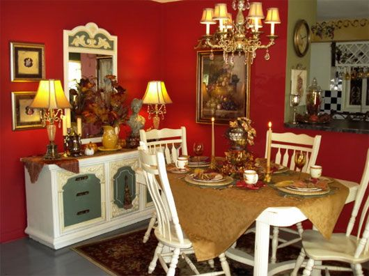 115 Best Red Kitchen Ideas Images On Pinterest  Formal Dining Prepossessing Red Dining Rooms Review