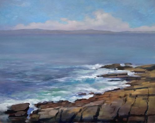 "'Rising Tide, Creevy' oil on panel 48"" x 32"" Morgan Ferriter 2017  http://bit.ly/29a6rK7 Painted on location at Creevy, Donegal, Ireland  #art #paintings #Donegal #ireland #WildAtlanticWay www.morganferriter.com"