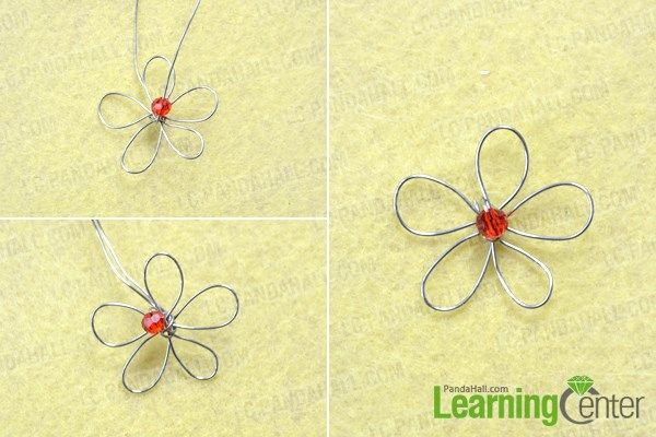 how to make wire flowers for jewelry