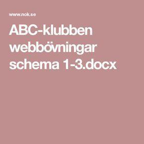 ABC-klubben webbövningar schema 1-3.docx