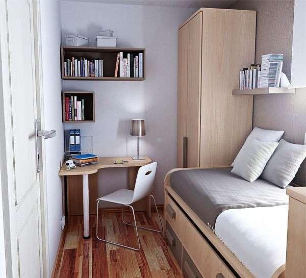 Colori per interni piccoli - Pareti grigie per piccola camera