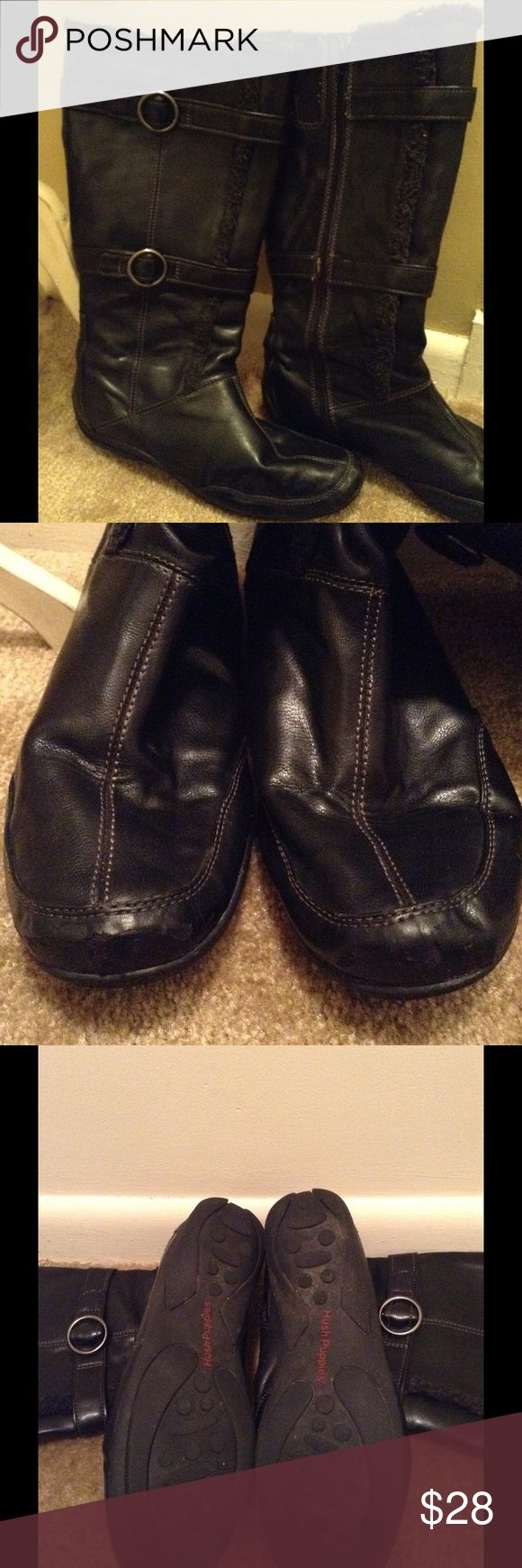 HUSH PUPPIES Black Boots Worn but in great condition. Hush Puppies Shoes Winter & Rain Boots