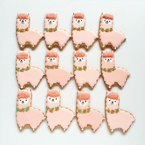 alpaca cookies....ridiculously cute.
