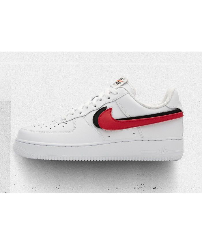 4ddd848b0 Nike Air Force 1 Replaceable Swoosh Pack White New Shoes Sale UK ...