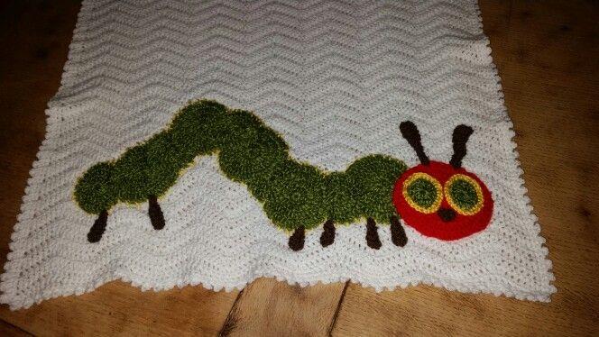 Hungry Caterpillar Inspired Crochet Baby Blanket Attic 24