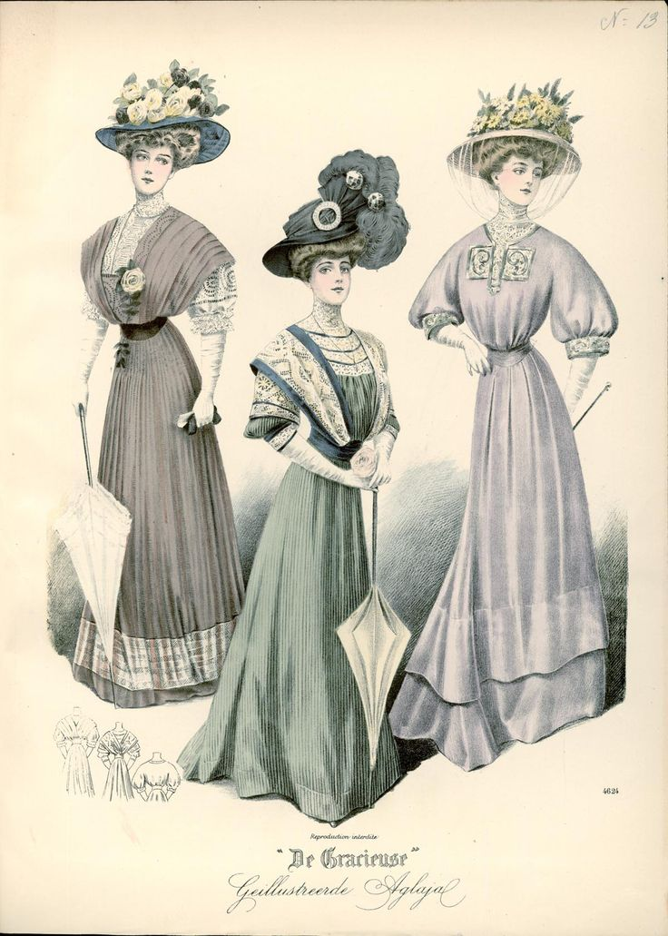 Fashion Plate - De Gracieuse, 1910