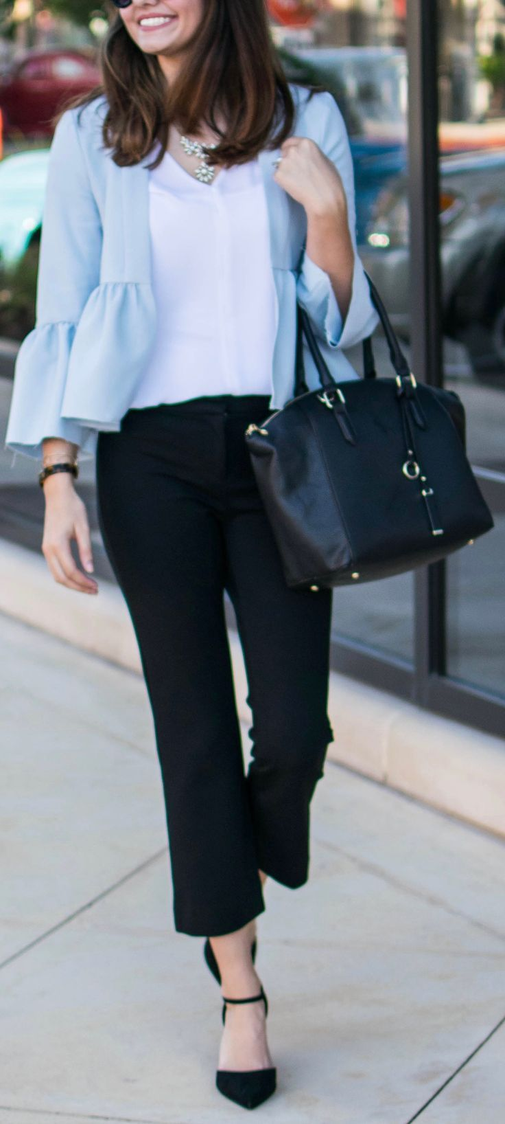 Teacher outfit, work outfit, topshop outfit, topshop blazer, Nordstrom Outfit, classical trendsetter
