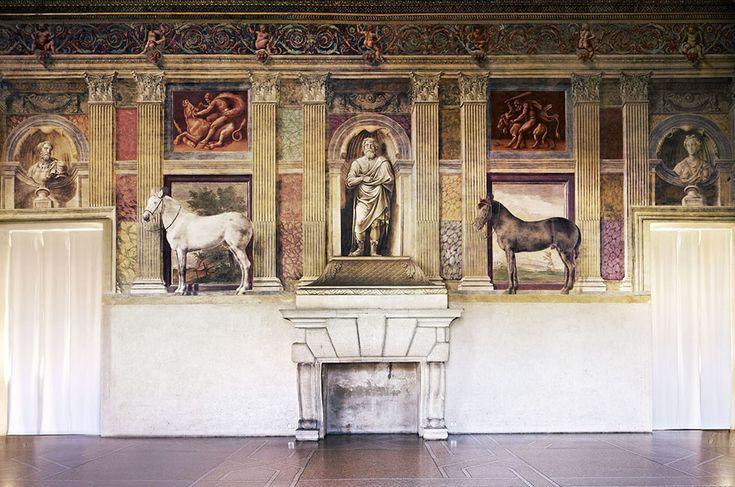 Candida Höfer, Mantova Museo Civico di Palazzo Te Sala dei Cavalli, parete del camino
