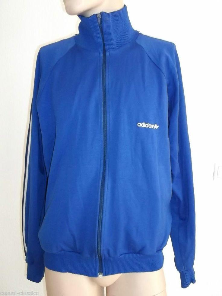 ADIDAS Vintage TrackSuit top Mens Jacket UK L High Collar Rare 80's , 90's