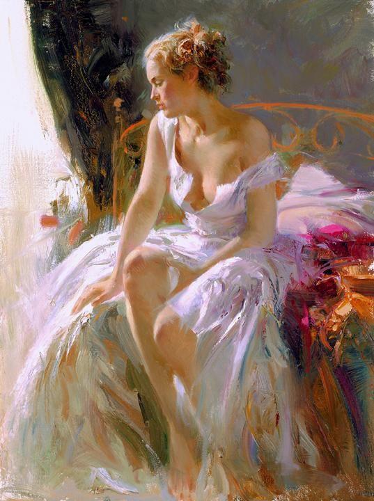 Morning breeze - Beautiful Paintings by Pino Daeni | Art and Design