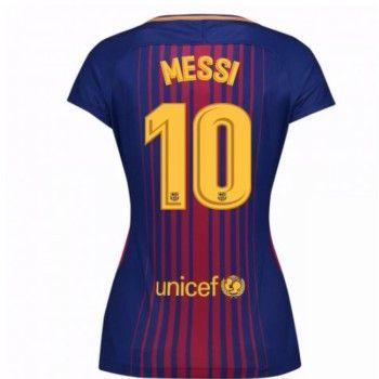 Barcelona Lionel Messi 10 kläder Kvinnor 17-18 Hemmatröja Kortärmad  #Billiga #fotbollströjor
