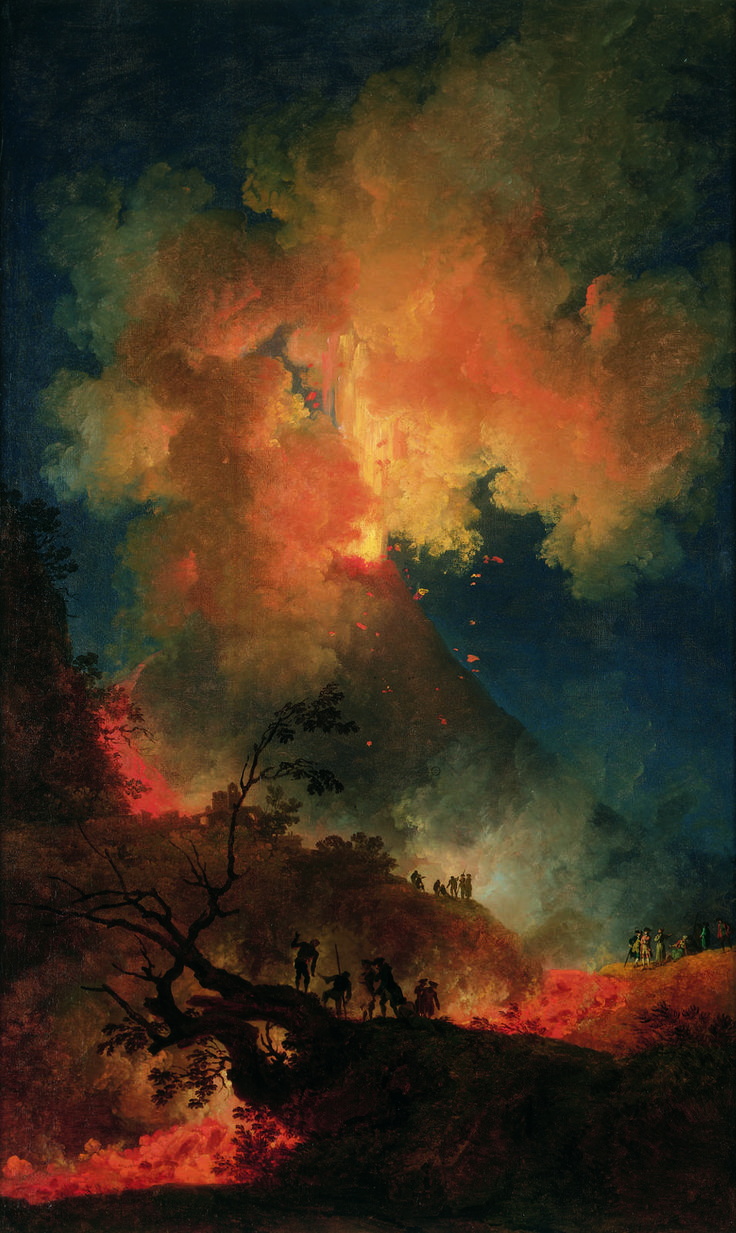 Vesuvius Erupting at Night ; Artist: Pierre-Jacques Volaire ; Year: Unknown