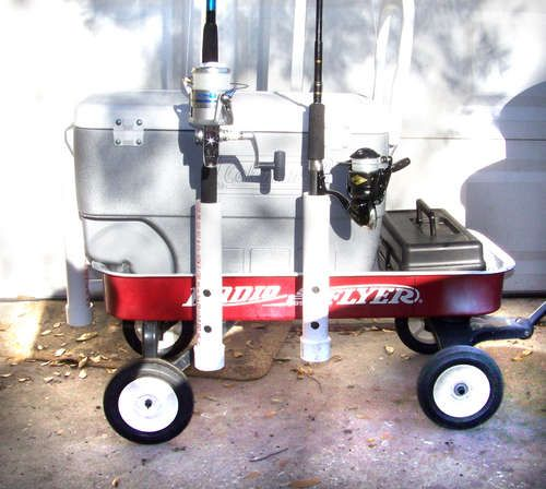 Jury rigged surf fishing cart surf home and homemade for Homemade fishing cart