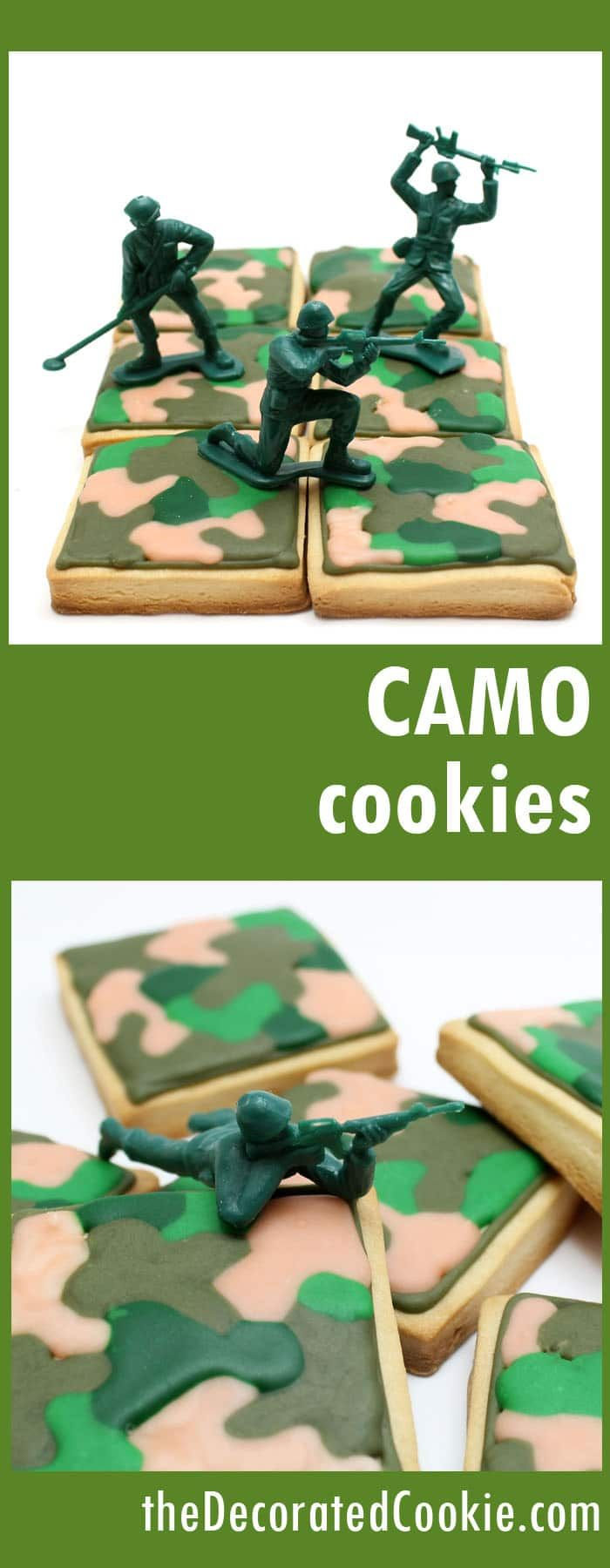 army camouflage cookies -- military homecoming party
