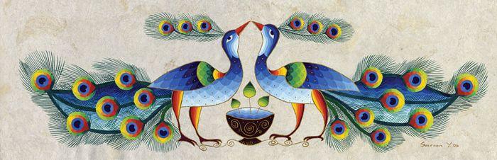 Peacocks in Attraction by Seeroon Yeretzian