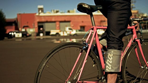 Rapha jeans and sexy bitch pink bike