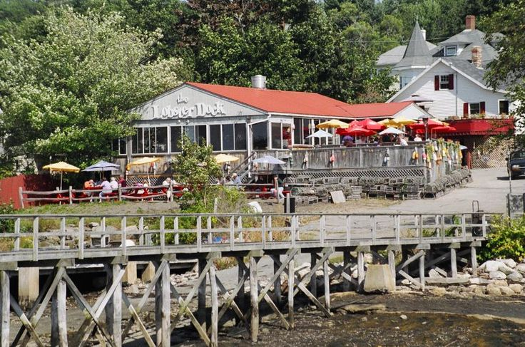 The Lobster Dock, Boothbay Harbor, Maine - Waterfront Restaurant directly on the Harbor with breataking Sunsets