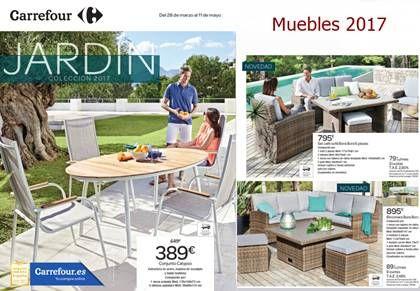 catalogo muebles jardin carrefour primavera 2017
