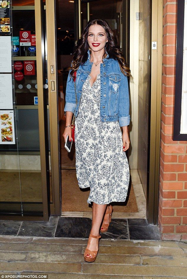 Blooming beautiful! The television personality seemingly pulled out all of the stops for her slap-up dinner, dressed in a floral gown that flattered her slender silhouette.