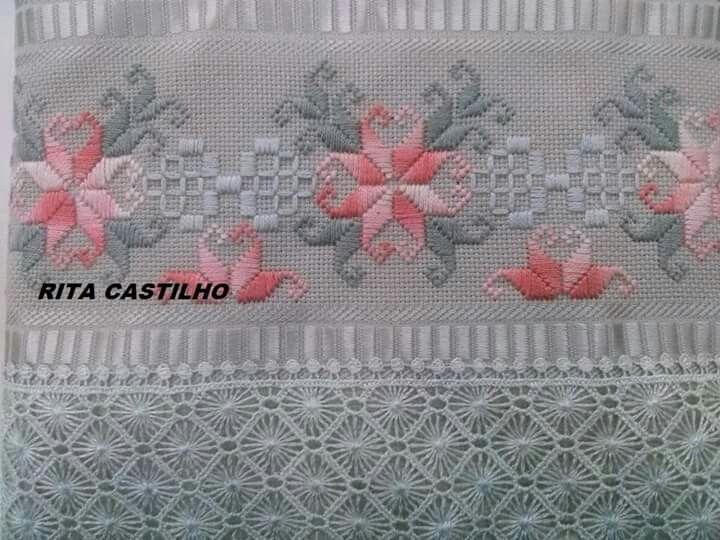 Meu último bordado feito no curso da Estação Cultura-Catanduva.sp