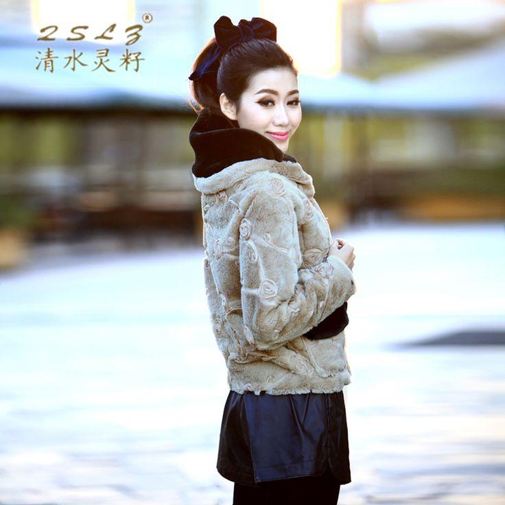 Горячая зима новинка Batwing рукавом с коротким искусственного меха кролика пальто женщины искусственного меха куртка мыс кружева роуз искусственный мех пальто B1692