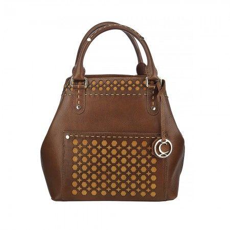 Una bolsa auténtica con un diseño exclusivo. Refleja seguridad y elegancia. Sus cortes geométricos en piel contrastante hacen lucir el tejido artesanal distintivo de la marca