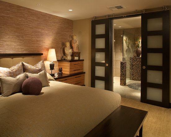 Sisal, porte coulissante japan-style vers le dressing, atmosphère zen : voilà ce que nous recherchons pour notre chambre !