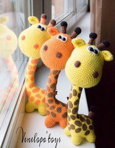 Crochet patrones jirafa jirafa ganchillo patrón por VenelopaTOYS
