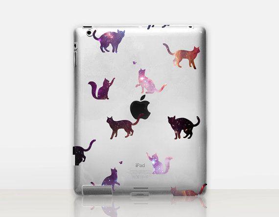Star Cats Transparent iPad Case For  iPad 2 iPad 3 iPad 4