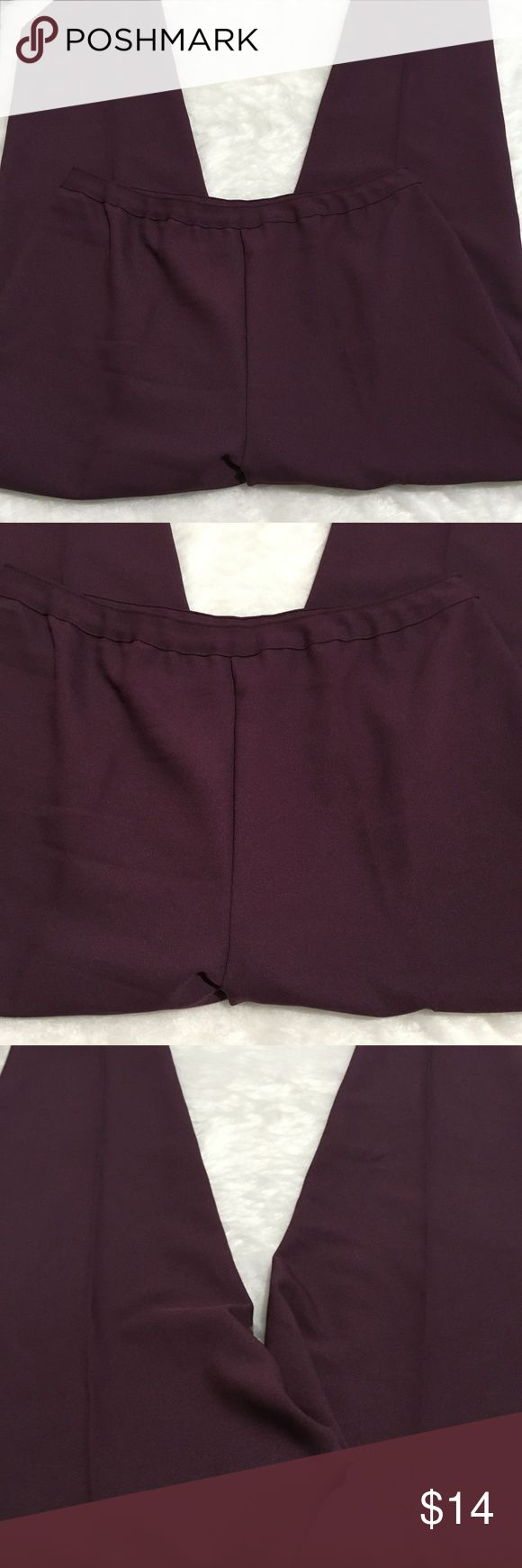 "BEND OVER SIZE 22 TALL WOMEN'S DRESS PANTS BEND OVER SIZE 22W TALL WOMEN'S purple DRESS PANTS   gently used with no flaws.   waist laying flat- 18"" rise- 14"" rear rise-16"" inseam- 31 t6-16 Pants Trousers"