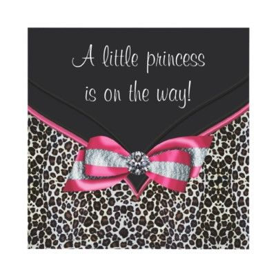 Pink Leopard Princess Baby Shower Invitations by BabyCentral