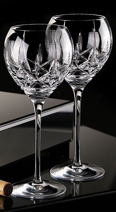 Waterford Crystal Eimer Crystal Balloon Wine Pair Pomeranians