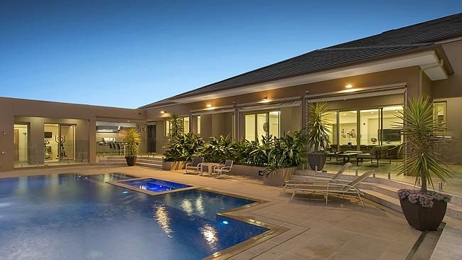 The entertaining zone with heated swimming pool is a highlight at 15-17 Kelty Tce, Bundoo