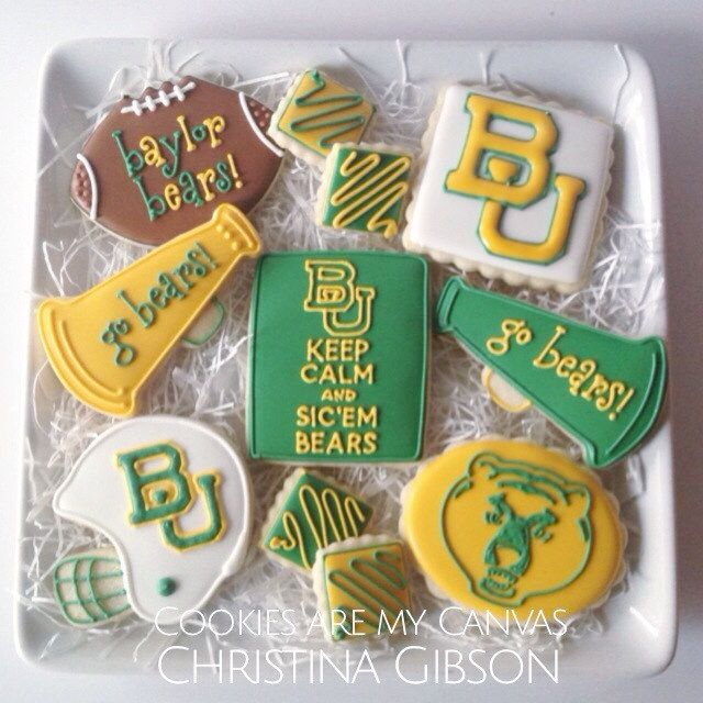 These are amazing! // #Baylor cookies: Cakes Cupcakes Desserts, Bears Cakes, Bear Cakes, Baylor Cakes, Canvas, Photo
