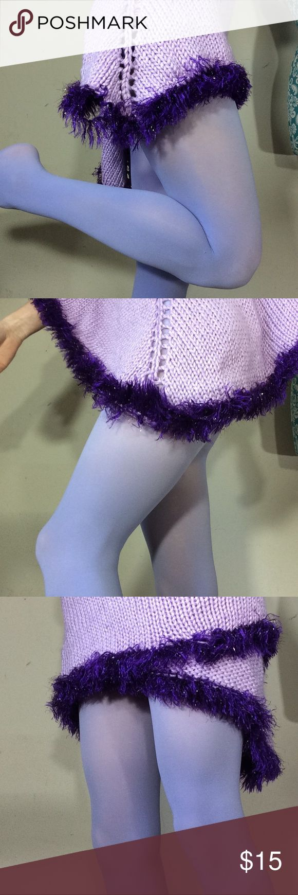 Pale Pastel Lavender Legging Tights Great condition. Smoke free home. One small hole on heel of right foot but doesn't effect and has a lot of wears left. Great for Easter or valentines. Stretchy. Not very sheer. P Hot Topic Accessories Hosiery & Socks