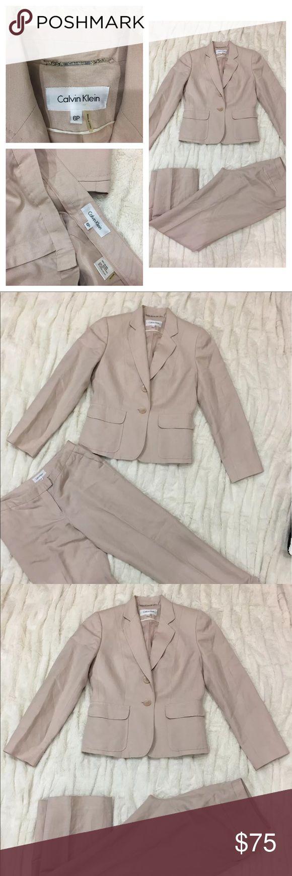Calvin Klein Women's Blazer Pants Suit $350 Pastel Calvin Klein Women's Blazer Pants Suit $350 Pastel Color Career Work Office Wear Calvin Klein Jackets & Coats Blazers