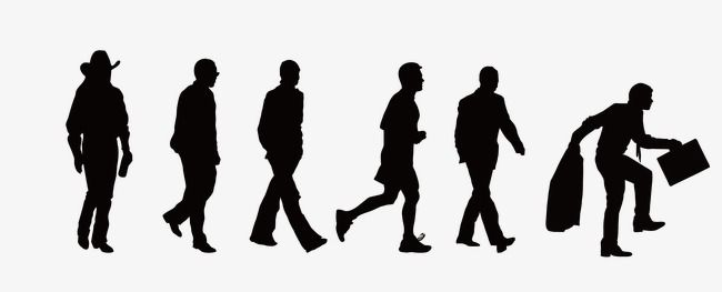 People Walking Silhouette Figures Vector Silhouette Figures Png And Vector With Transparent Background For Free Download People Walking Png Profile Drawing Silhouette